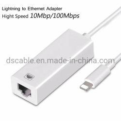 Blitz zu verdrahtetem Netz-Adapter des Ethernet-RJ45 LAN für iPhone iPad