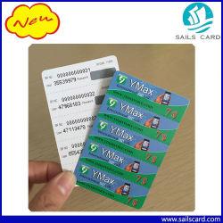ペーパーまたはPVC可動装置または携帯電話スクラッチ再充電によって前払いされるカード
