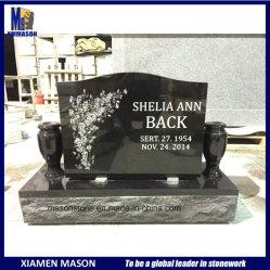 Мейсон черный дешевые гранита Headstone на кладбище