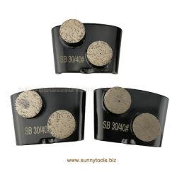Boutons de métal en béton double bond HTC Diamond meule