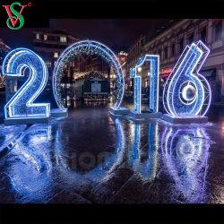 3D de Natal Festival Motif Carta Figuras Feliz Natal Luzes de Corda