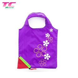 Morecredit fraise promotionnel pliable sacs fourre-tout commerce de gros sac shopping compressés avec cordon verrouiller