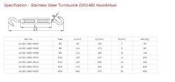 El tensor de acero inoxidable DIN1480