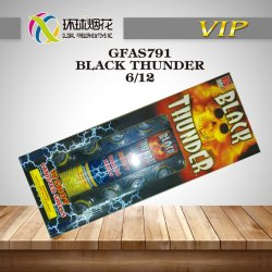 Gfas791-Black Thunder capas de Artilharia Sortidas Exibir os reservatórios 1.4G felicidade exterior de fogos de artifício chinês