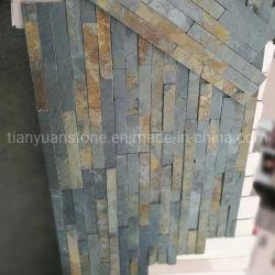 Pietra naturale di coltura ardesia gialla per piastrelle da parete esterne Rivestimento