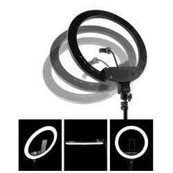 As cores da luz de enchimento de anéis de luz de intensidade regulável com suporte telefônico Makeup 10 Polegadas Selfie Anel de luz LED