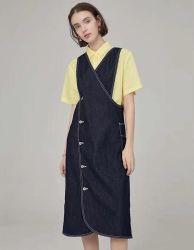 De Kleding van de Jeans van het Nieuwe van het Ontwerp van de manier 2021 van de Lente van de Herfst Overmaatse Klassieke van de Rokken Hoge van de Taille Lange Elegante Meisje van de Avond Blauwe