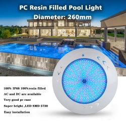18watt de warme Witte Hars van PC vulde de Muur Opgezette Lichten van het Zwembad