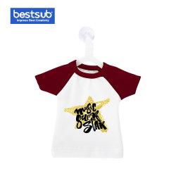 装飾のギフトのためのハンガーが付いている昇華小型かわいいTシャツ(赤) (MTC-R)のカラーか袖