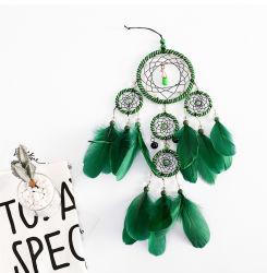 Memória verde em decoração de interiores 5 Anel Dream Catcher dons pendente para amigos indústrias artesanais