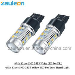 T20 cuneo LED 7440 7443 indicatori luminosi doppi dell'automobile di colore del tracciato