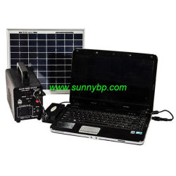 12V Sistema de energía solar portátil para laptop/ventilador/TV/Lámparas