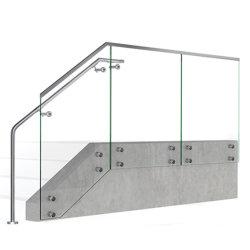 Escalier de pont de haute qualité d'un balcon AISI304 & verre en acier inoxydable AISI316 Escalier en verre de Standoff Balustrade de main courante main courante pour extérieur / intérieur avec ce système