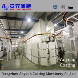 La línea de revestimiento en polvo automática para el aluminio y productos metálicos