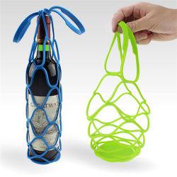 2 en 1 botella de vino de silicona botella de vino de la Bolsa Bolsa de transporte y la almohadilla caliente Tabla Placemat Mat