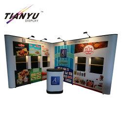 Affichage d'exposition pop up de pliage de stand à prix bon marché
