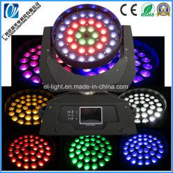 36*18W RGBWA +UV 6en1 Multi-LED de couleur se déplaçant Head Wash de la lumière avec fonctions de zoom grand angle et une luminosité élevée