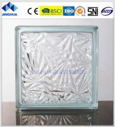 Jinghua Flor de gelo de alta qualidade de vidro transparente Brick/Bloquear