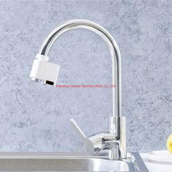 Rubinetto induttivo del sensore del rubinetto del sensore dell'acqua del risparmiatore del colpetto della stanza da bagno automatica infrarossa della cucina