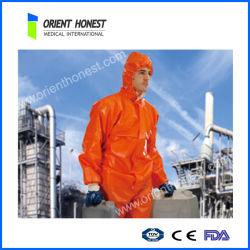 安いオレンジ使い捨て可能なPPのつなぎ服