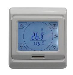 Pantalla LCD táctil grande habitación programables calefacción por suelo radiante eléctrico termostato y el control de temperatura