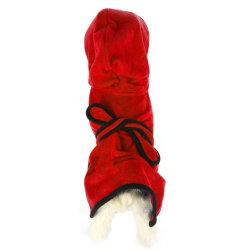 Mircofiber Quick-Dry léger absorbant le toilettage chien chat Serviette de gros de vêtements pour animaux de compagnie