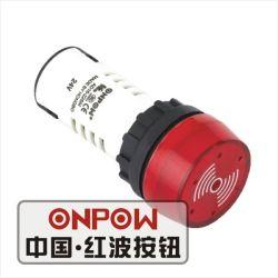 Onpow 22mm Tonsignal mit Blitz (AD16-22SM/R/12V, CCC, CER)