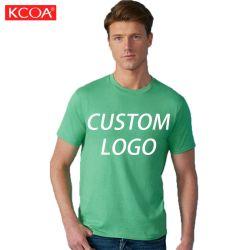 الربيع رخيص عنقه دائرية ورقبة ترويجية شعارها المخصص قميص للرجال