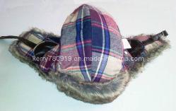 De Vezel van /Micro van de Hoed van de Marechaussee van de Plaid van de winter met de Warme Hoed van Earflap van het Bont Faux