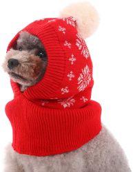 Собака зимой Red Hat, собака трикотажные Red Hat Пэт Рождество зимний теплый колпачки Cute аксессуары горловины ухо теплый теплый капота шарфом группа украшения для Pet Cat и собака, пригодный для SMA