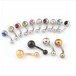 Großhandelskristallbauchnabel-Nabel-Ring-Rumpf-Piercing Schmucksachen