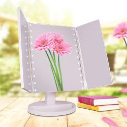 Tampo Trifold 360 Graus LED ajustável espelho Espelho
