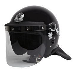 Anti-émeute casque avec visière de protection de cou