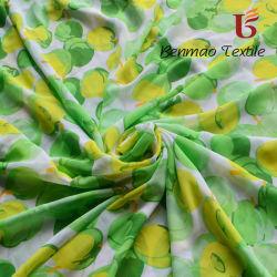 100 % polyester mousseline de soie imprimée pour Ladies Garment