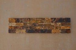 Gold-Yellow-rouille de haute qualité de l'ardoise Placage pour la construction de murs en pierre