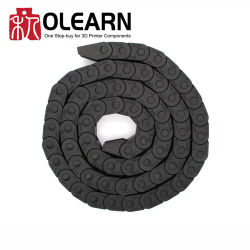Olearn Black Plastic Flexible Nastroted Drag Chain Cable Carrier شبه مغلقة 7*7 مم للماكينات الكهربائية