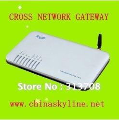 skyline의 교차하는 네트워크 출입구, 라디오 VoIP GSM 디자인 또는 RoIP 302m