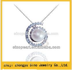 Véritable énorme 925 Sterling Silver 11-12mm d'eau douce Pendentif Perle de culture, Sino Pearl
