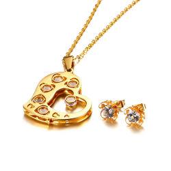 卸し売りより安いモデルレディースはステンレス鋼の宝石類セットをセットした