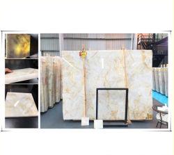 Translúcida Natural Onyx de oro para el cuarto de baño/Fondo/Piso/pared/Hotel/cocina/Indoor/escritorio