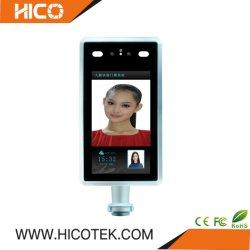 Painel de reconhecimento facial Termômetro de medição da temperatura corporal do Controlador de acesso ao registo de presenças