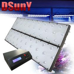 Het programmeerbare 120W LEIDENE Licht van het Aquarium voor het Koraal van de Ertsader Geen Zonsopgang/Zonsondergang van het Lawaai van de Ventilator/Maan