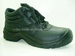 Les styles de normale avec Split de mise en relief l'acier en cuir des bottes de sécurité/chaussures de sécurité AX03005