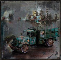 La Decoración de pared Metal Pintura al Óleo de hierro de arte antiguo vehículo automóvil de dimensión 3D
