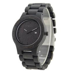 卸し売り方法黒い広い木製の水晶腕時計