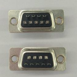 Dsb 9 pino macho do conector Tipo de Solda