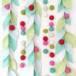 Felt Christmas Tree Hanging Ornaments in Inventories Felt Balls
