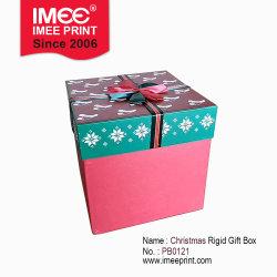 Настраиваемый логотип Imee напечатано Рождество X-мас подарок продукт площади платы серого цвета бумаги картона жесткой упаковки люкс пакет упаковки коробки