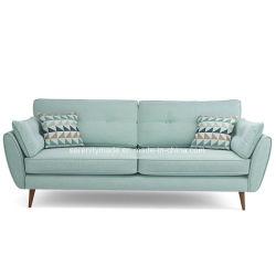 Lebensstil-lebendes Möbel zwei Seater Gewebe-Holzrahmen-Couch-Sofa