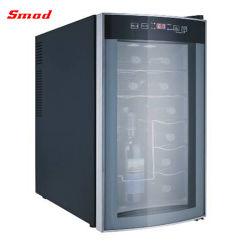 12 Flaschen-Weinkeller-Haus-Stab-Gebrauch-Glastür-thermoelektrische abkühlende Wein-Kühlvorrichtung